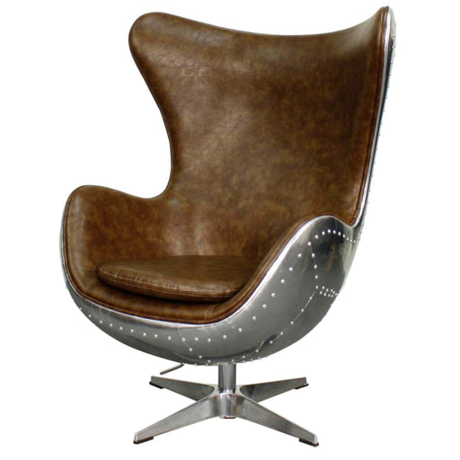 Axis Swivel Rocker Chair-Mocha