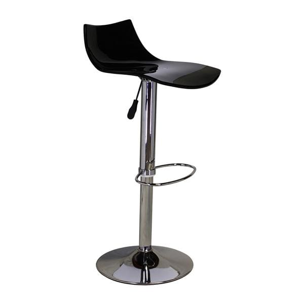Black Lucite Seat Adjustable Swivel Stool