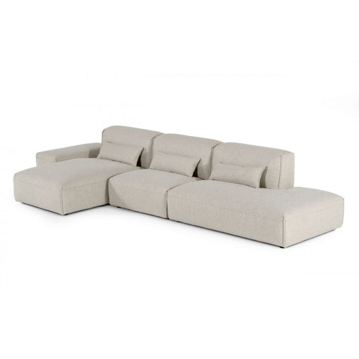 Bravo Beige Sectional with Ottoman