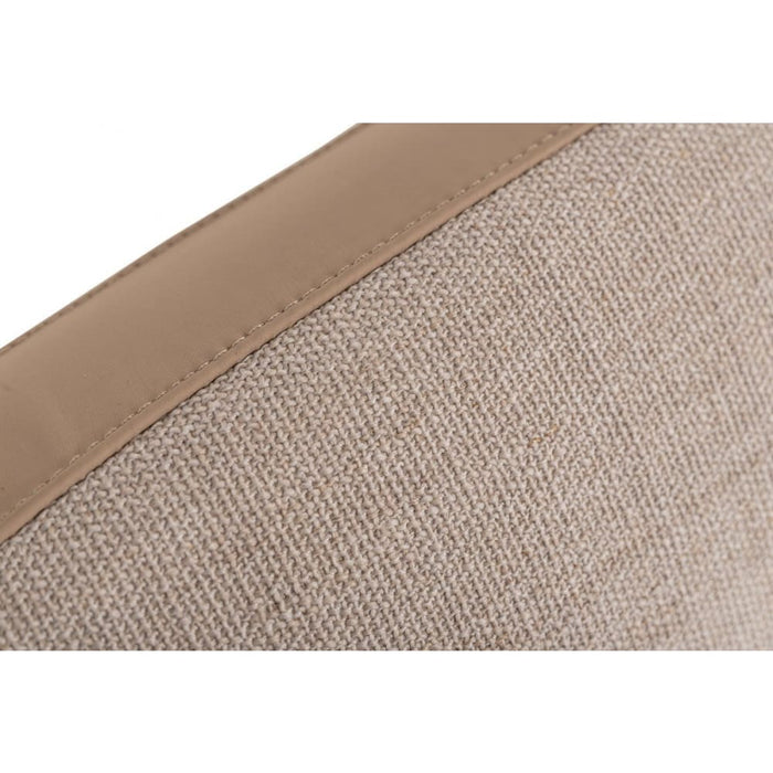 Brittany Beige Fabric Bed Queen