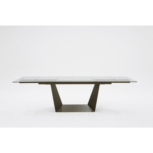 Bronwin Glass Extendable Dining Table