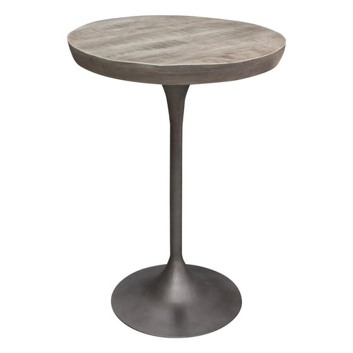 Buckingham 30 Round Bistro Table Solid Mango Wood Top Grey Finish