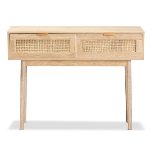 Byrd Mid Century 2 Drawer Console Table