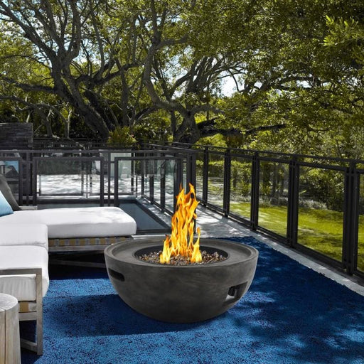Cabo Outdoor Patio Fire Pit Brown Concrete Texture Finish