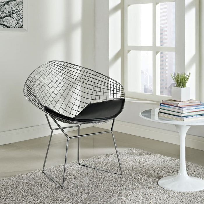 CAD UPHOLSTERED VINYL LOUNGE CHAIR