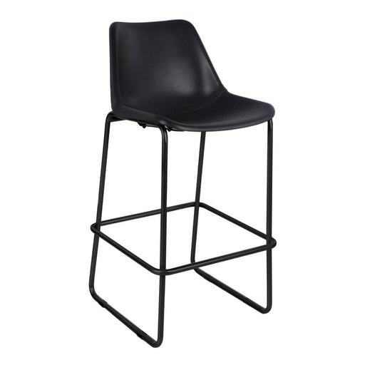 Camron Bar Height Chair Black Leather