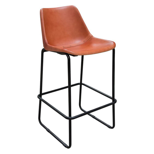 Camron Bar Height Chair Clay Leather