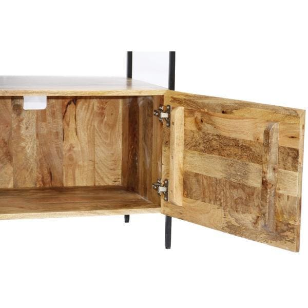 Carmen Mango Wood and Metal TV Console Stand
