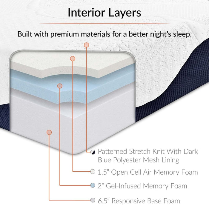CAROLINE 10 KING MEMORY FOAM MATTRESS