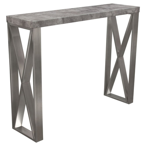 Carrera Bar Height Table in 3D Faux Concrete Finish