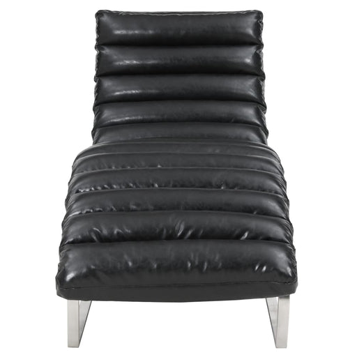 Cavett Chaise Lounge Chair-Black