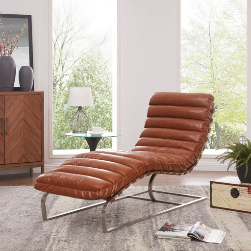 Cavett Chaise Lounge Chair-Brown