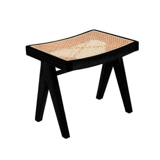 Chandigarh Low Stool, Black