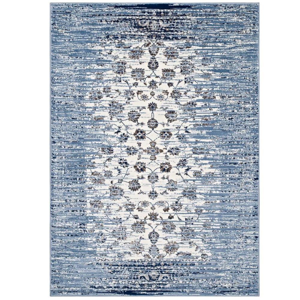 CHIARA DISTRESSED FLORAL LATTICE CONTEMPORARY 5X8 AREA RUG