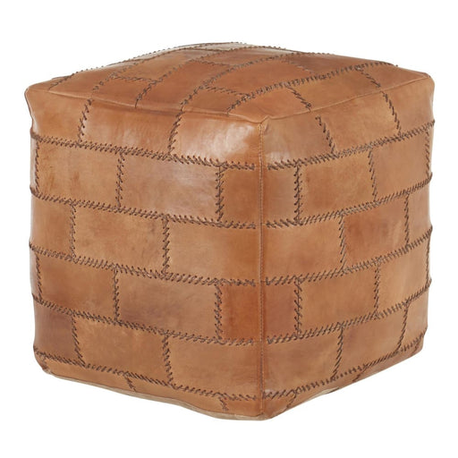 Cobbler Pouf Brown Leather