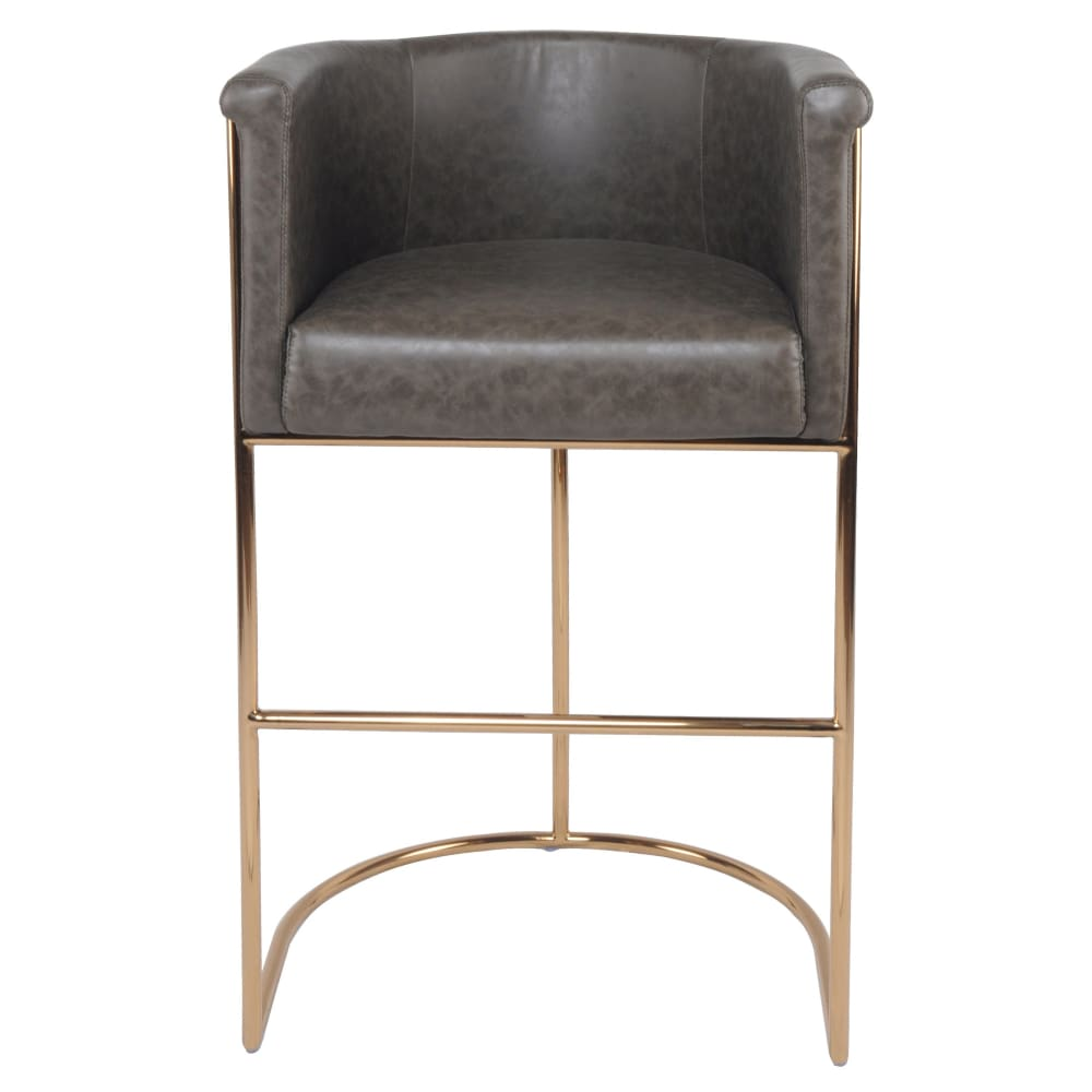 Colm PU Leather Bar Stool-Gray