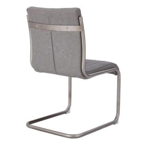 Cooper Chair Silver Frame Antique Graphite Gray