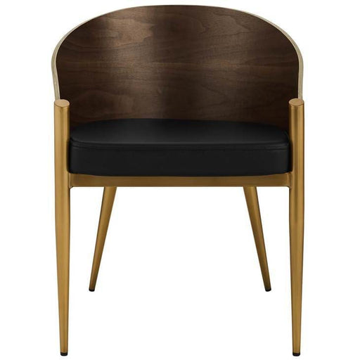 COOPER WOOD ARMCHAIR GOLD