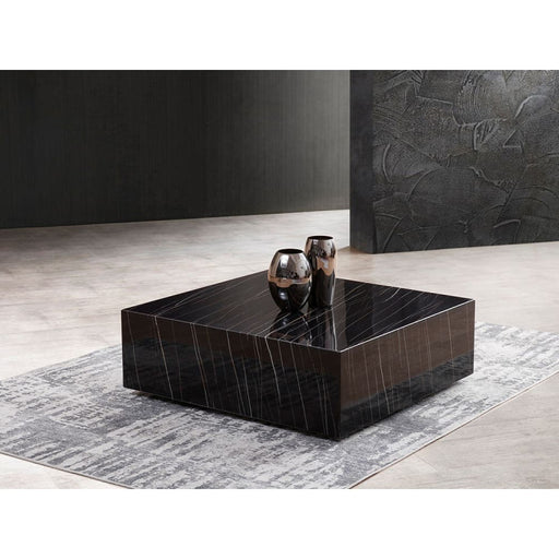 Couture Marble Coffee Table Black