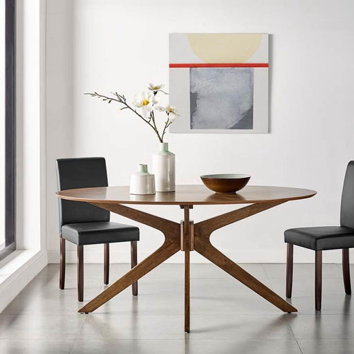 Crosslands 63 Oval Wood Dining Table