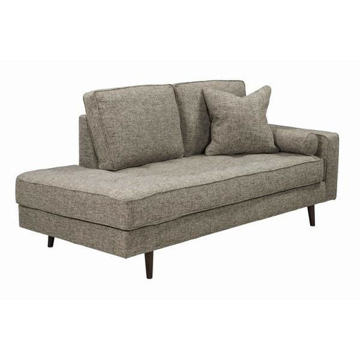 Darwin Daybed Sofa With Tapered Angular Legs Gray Mix