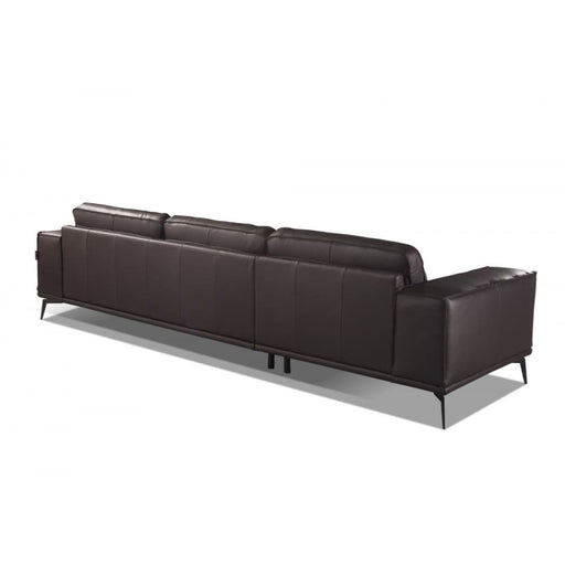Darwin Italian Dark Brown Leather Sofa