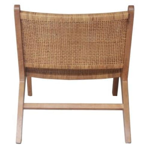 Delray Webbing Rattan Accent Chair Canary Brown