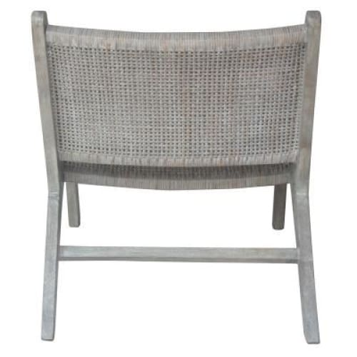 Delray Webbing Rattan Accent Chair Gray