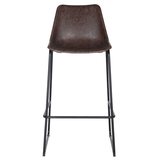 Delta PU Leather ABS Bar Stool-Brown