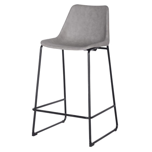 Delta PU Leather ABS Bar Stool-Gray