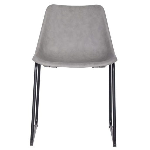 Delta PU Leather ABS Chair-Gray Set of 2