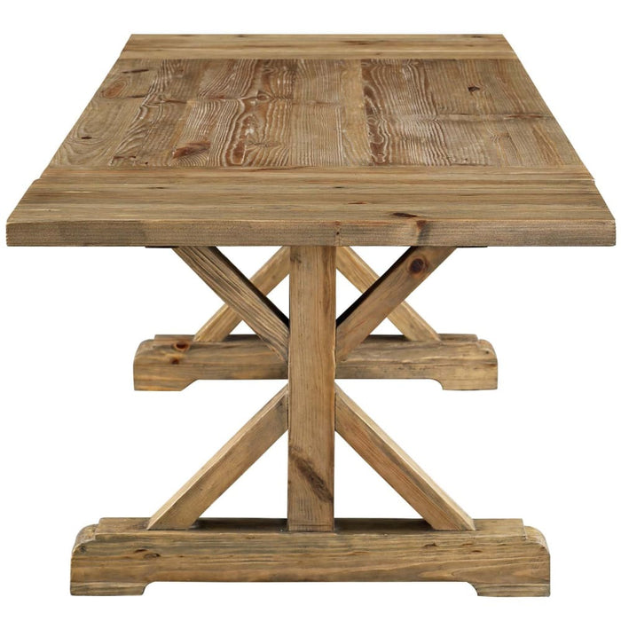 DEN EXTENDABLE WOOD DINING TABLE
