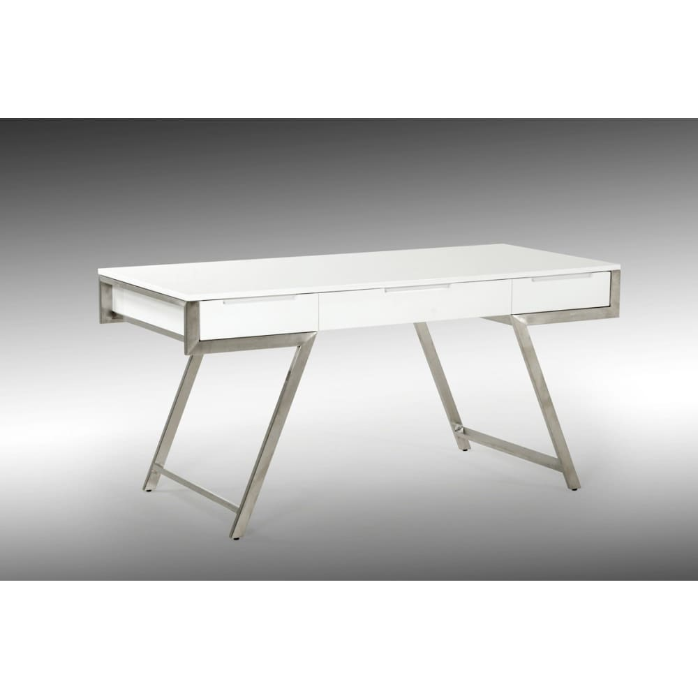 Dessart Modern White Gloss Desk