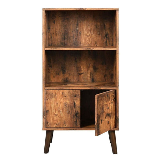 Dillon 2 Tier Wooden Bookshelf With Storage Cabinet