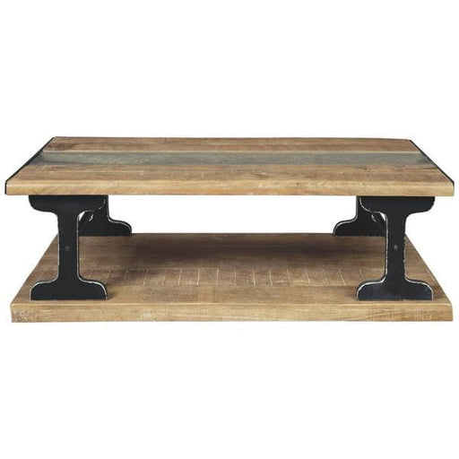 El Paso Live Edge Coffee Table With Glass Insert