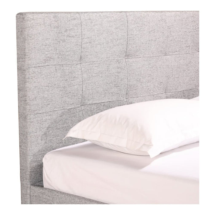 ELIZA KING BED LIGHT GREY FABRIC