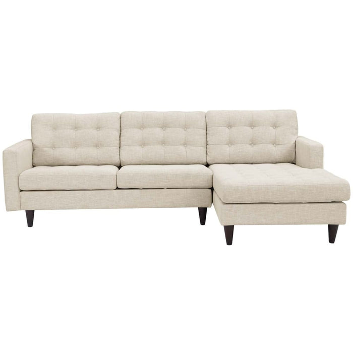 EMPRESS RIGHT-FACING UPHOLSTERED FABRIC SECTIONAL SOFA