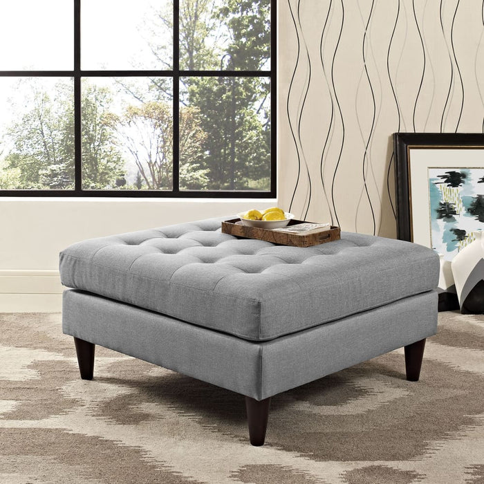 EMPRESS UPHOLSTERED FABRIC LARGE OTTOMAN