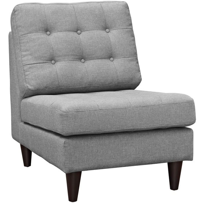 EMPRESS UPHOLSTERED FABRIC LOUNGE CHAIR