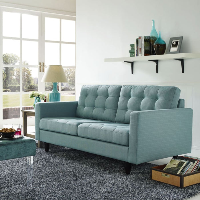 EMPRESS UPHOLSTERED FABRIC LOVESEAT