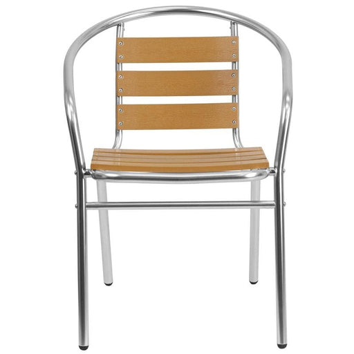 Ernesto Aluminum Triple Slat Faux Teak Outdoor Chair