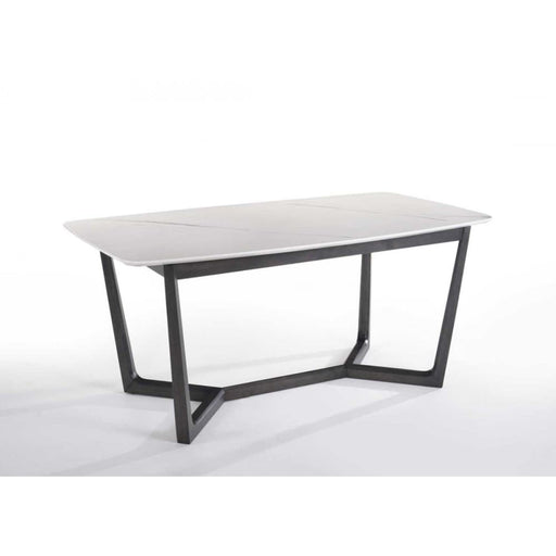 Eva White Cultured Marble Dining Table