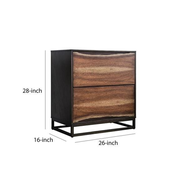 Everest 2 Drawer Nightstand
