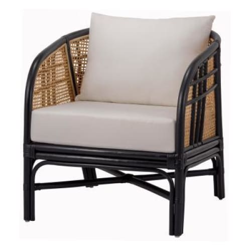 Ferrah Rattan Accent Chair Black Natural