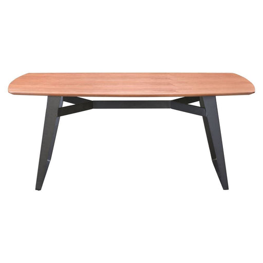 Fletcher Dining Table Walnut and Black