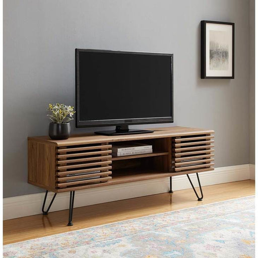 Frank Lloyd 46 TV Stand Walnut w/Hairpin Legs