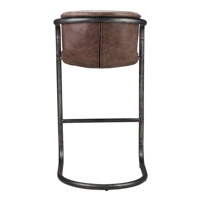 FREEMAN BARSTOOL LIGHT BROWN-SET OF TWO