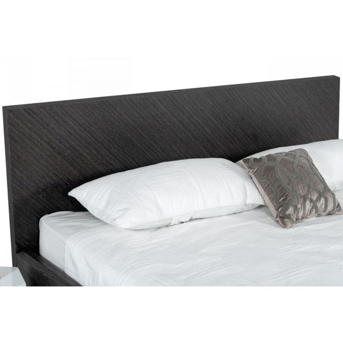 Gaige Modern Grey Elm Bed Queen