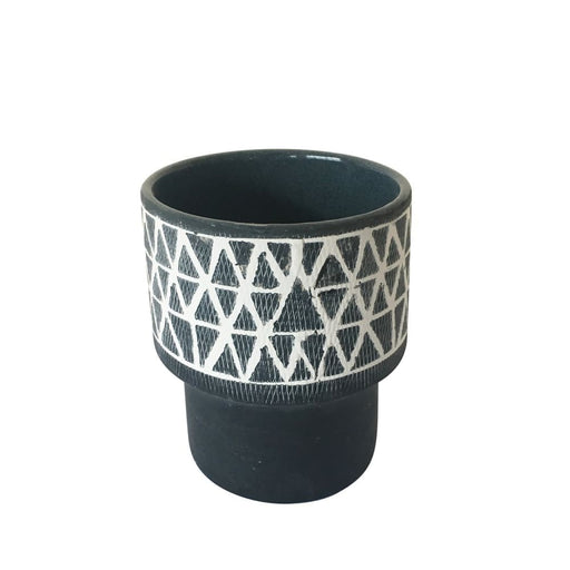 Geo Ceramic Planter, Small