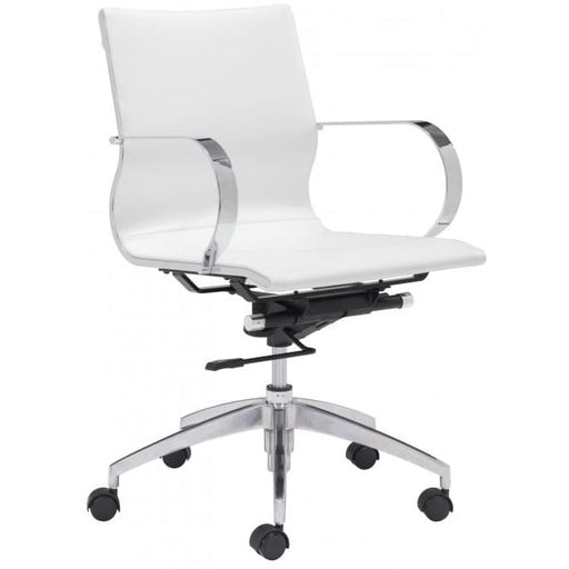 Glide Low Back Office Chair White